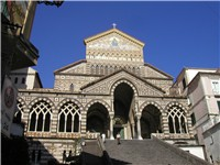 St Andrew's cathedral, Amalfi, Italy, completed in 1206