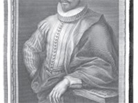 Miguel de Cervantes in a late and idealized portrait of the 18th century (Retratos de Espa oles Ilus
