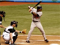 Tejada batting when he played for the Baltimore Orioles