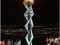 The team had the honor of lighting the Olympic cauldron at the 2002 Winter Olympics.