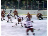 Eruzione tees up the go-ahead goal.