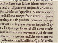 A margin note by Agostino Vespucci from October 1503 in a book in the library of the University of H