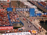 Formation lap for the 1996 Monaco Grand Prix.