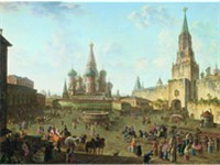 Medieval Red Square, painting of Fedor Alekseev, 1802