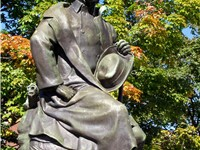 Statue of Hawthorne in Salem, Massachusetts.