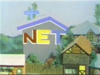 The color NET logo was incorporated into a model building at the beginning and end of Mister Rogers'