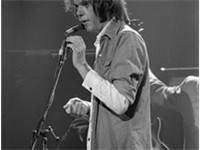 Neil Young in Austin, Texas on November 9, 1976