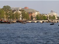 The river Amstel in the city's centre of the Dutch capital Amsterdam.
