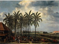 Dutch Batavia built in what is now Jakarta, by Andries Beeckman c. 1656.