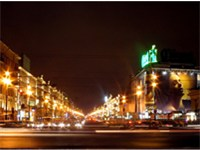 Nevsky Prospekt seen at night