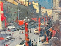 Nevsky in Holiday, 1970, by Alexander Semionov