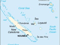 New Caledonia map from CIA World Factbook