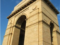 India Gate commemorates Indian soldiers who fought in World War I