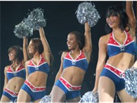 The Patriots Cheerleaders performing a routine in 2007