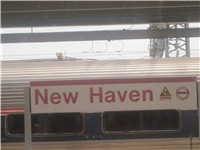 Amtrak railroad service at New Haven