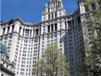 The Manhattan Municipal Building, a 40-story building built to accommodate increased governmental sp