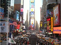 "Times Square has been dubbed ""The Crossroads of the World""."