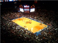 The Knicks in action at Madison Square Garden in the 2008--09 season
