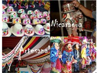 An example of typical Nicaraguan handicrafts which are sold in markets all over the country