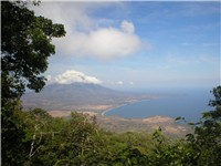 Nicaragua is known as the land of lakes and volcanoes, pictured is Concepci n volcano located in Mad