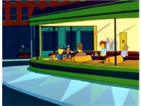 "An establishing shot from ""Homer vs. The Eighteenth Amendment"", one of several references to Nightha"