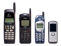 Reduction in size of Nokia mobile phones