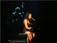 Norah Jones playing at the Blaisdell Arena.