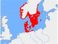 Map of the Nordic Bronze Age culture, ca 1200 BC
