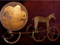 The Trundholm sun chariot pulled by a horse is sculpture believed to illustrate an important part of