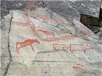 Rock carvings at Alta.