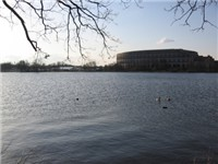 Dutzendteich and Kongresshalle in the background