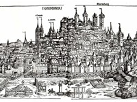 Nuremberg in 1493 (from the Nuremberg Chronicle).