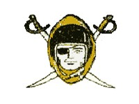 Original team logo, used from 1960--1962 but not represented on the helmet.