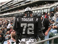 Members of Raider Nation are known for attending games in elaborate costumes.