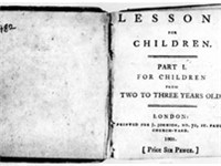 Title page from Barbauld's Lessons for Children (1778-79)