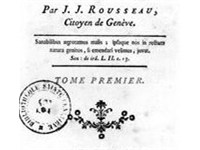 Title page from Rousseau's Emile (1762)