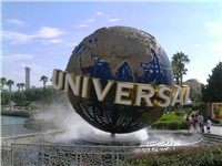 The Universal Studios globe