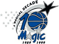 A special Magic logo from 1999, celebrating the team's 10 year anniversary.
