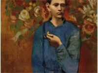 Pablo Picasso, Gar on à la pipe, (Boy with a Pipe), 1905, Rose Period