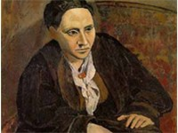 Portrait of Gertrude Stein, 1906, Metropolitan Museum of Art, New York City. When someone commented