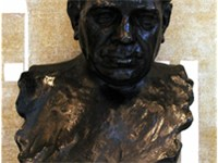 Amadeu Vives' bust at the Palau Flix Millet Hall