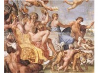 Detail of the Triumph of Bacchus and Ariadne by Annibale Carracci, the Farnese Gallery, 1595.
