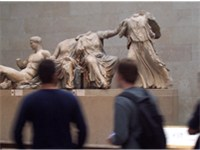 Life-size pediment sculptures from the Parthenon in the British Museum