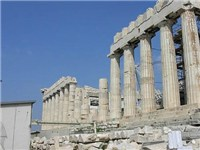 The southern side of the Parthenon, which sustained considerable damage in the 1687 explosion