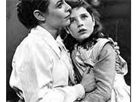 Anne Bancroft and Patty Duke (right) in the Broadway play The Miracle Worker (play) (1959-1961)