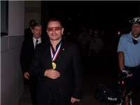 Bono after accepting the Philadelphia Liberty Medal on 27 September 2007