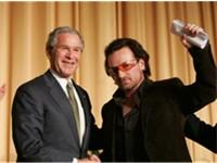 Bono and former US President George W. Bush