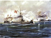 Angamos, a decisive battle during the War of the Pacific.
