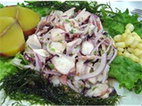 Ceviche is a citrus marinated seafood dish.