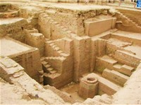 Excavations of Kanishka's Monastery in central Peshawar